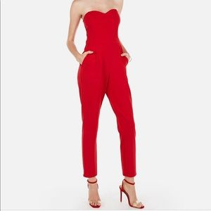Express Sweetheart Strapless Jumpsuit